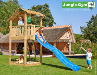 climbing-frame-and-slide-jungle-shelter-blue