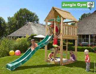 climbing-frame-and-slide-jungle-cabin-darkgreen